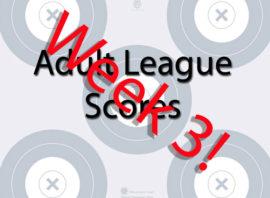 Week 3 Adult League Scores